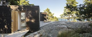 An Architect's Weekend Home Balances on a Rocky Slope in the Stockholm Archipelago