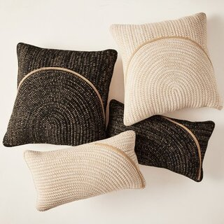 West Elm Woven Arches Indoor/Outdoor Pillow