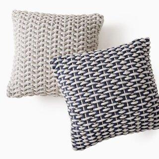 West Elm Basket Weave Indoor/Outdoor Pillow