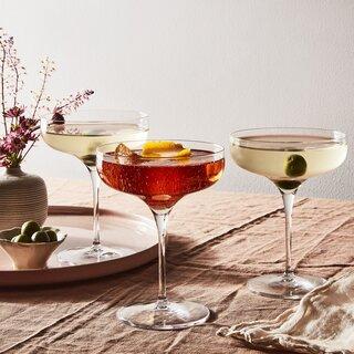 Luigi Bormioli Vinea Cocktail Coupe Glasses (Set of 4)