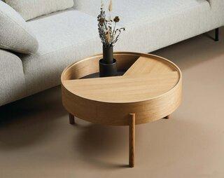 Woud Arc Swivel Coffee Table