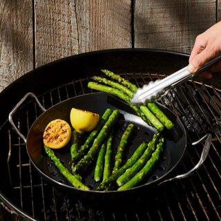 """De Buyer Blue Steel Vegetable Grilling Pan, 11"""""""