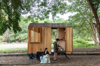 An Ecuador Couple Seek Out Adventure in a DIY Tiny Cabin on Wheels