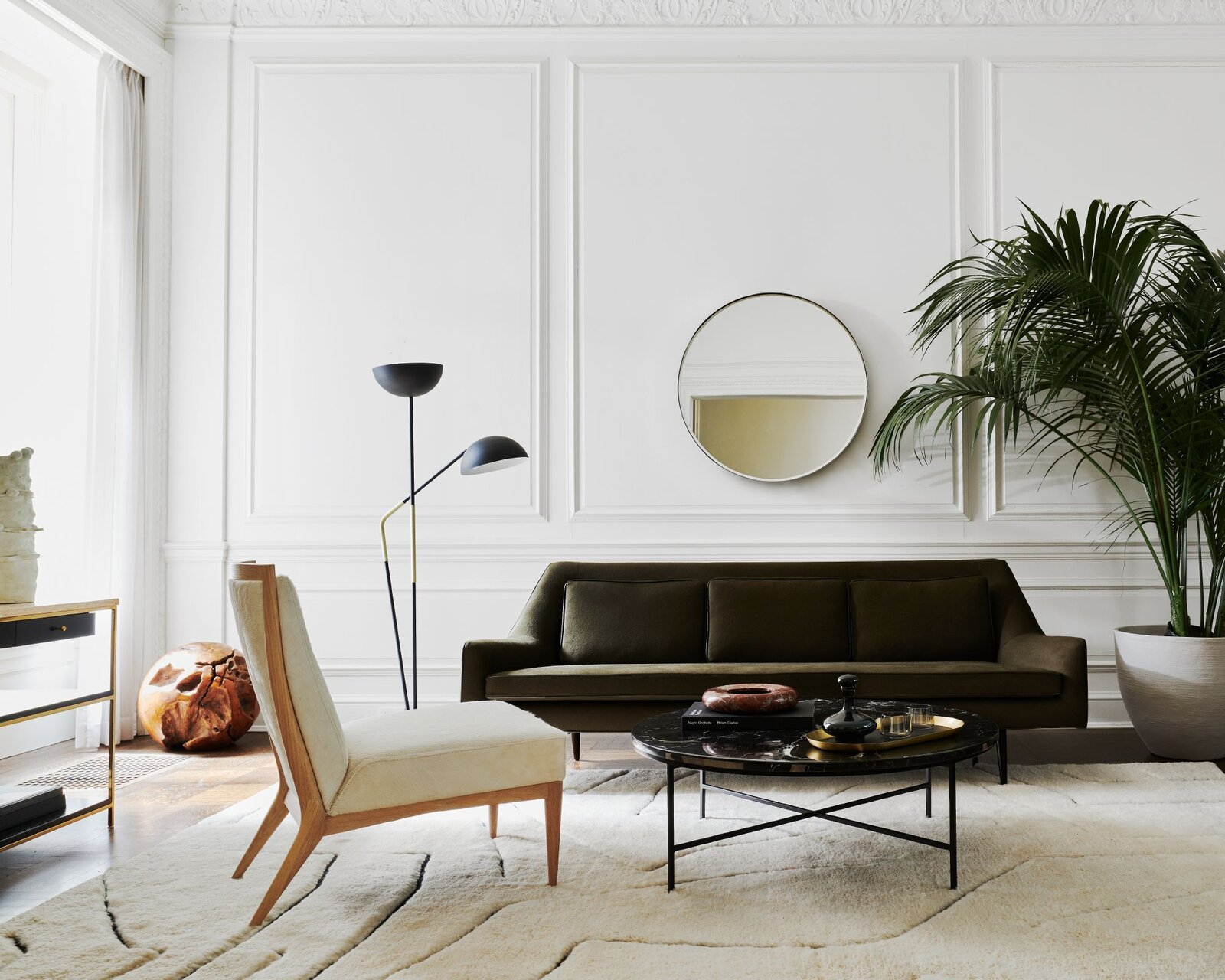 Living Room, Coffee Tables, Floor Lighting, Sofa, and Chair  Photo 1 of 7 in 5 Reasons Why American Modernist Paul McCobb's Designs Are Relevant Once Again