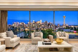 Asking $6.8M, This Sleek Seattle Abode Frames Riveting City Views