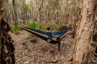 Nakie Recycled Hammock With Straps - River Blue