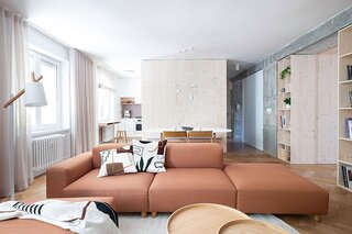 A Brutalist '60s Apartment Gets a Bright and Airy Makeover
