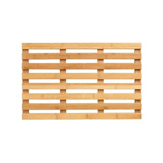 World Market Bamboo Bath Mat