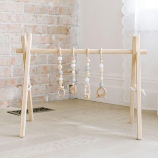 Poppyseed Play Wooden Baby Gym
