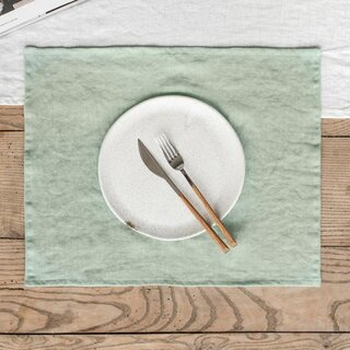 Magic Linen Sage Green Placemat Set of Two