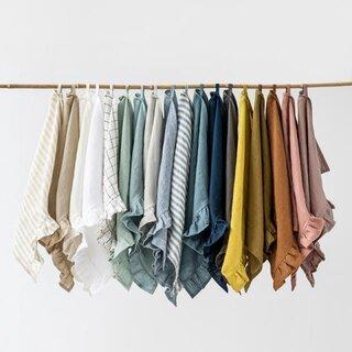 Magic Linen Ruffle Trim Tea Towel