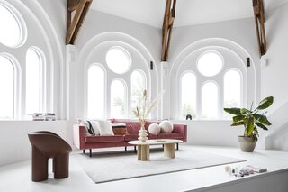 Near Amsterdam, a Couple Turn the Top of a Former Chapel Into Their Home and Studio