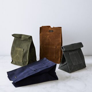Peg and Awl Canvas Lunch Bag With Note Pocket