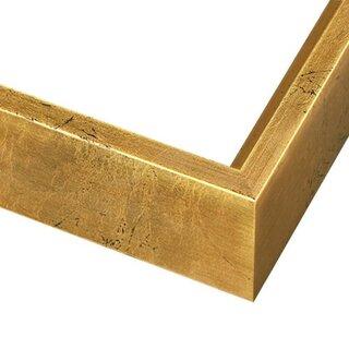 Pictureframes.com Gold Leaf Wood Canvas Floater Frame