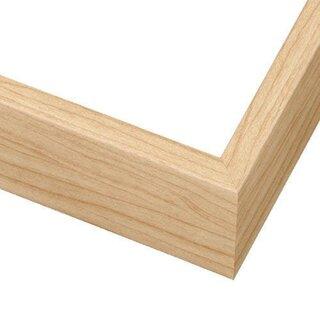 Pictureframes.com Deep Maple Wood Canvas Floater Frame