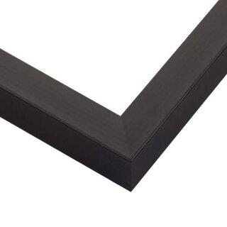 Pictureframes.com Classic Satin Black Wood Picture Frame