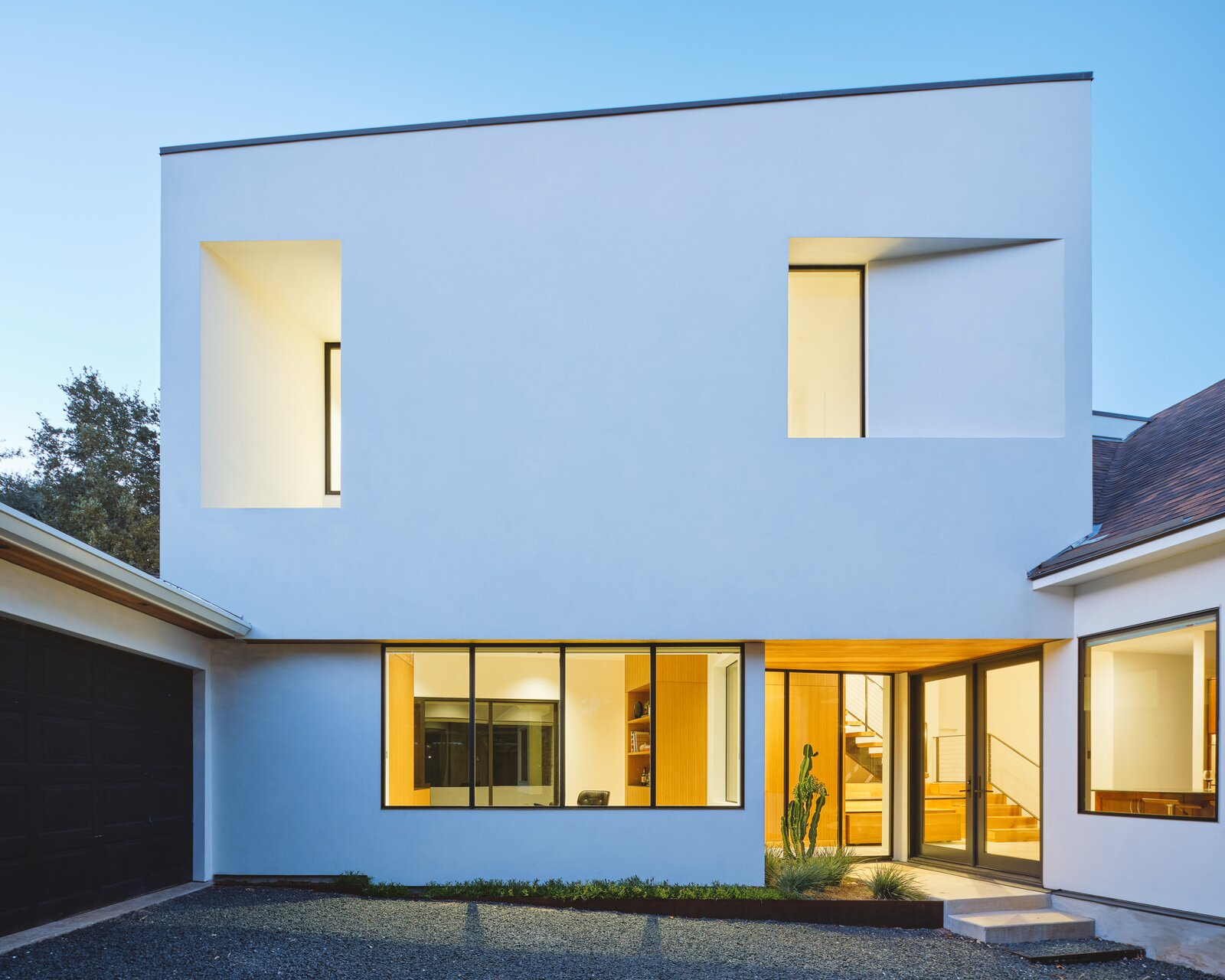 Photo 1 of 9 in This Striking Addition in Austin Is Defined by Clean, Discrete Geometry