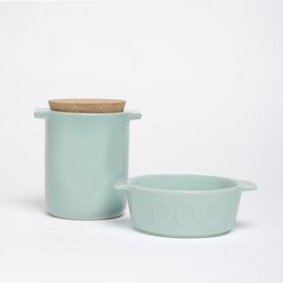 Waggo Too Hot Two Handle Dog Bowl and Treat Jar Set