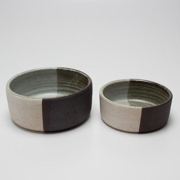 Black & White Glazed Bowl by MQuan Studio
