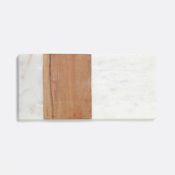 Unison White Marble & Acacia Board