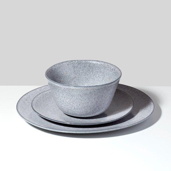 Grace Gray 3 Piece Dinnerware Set