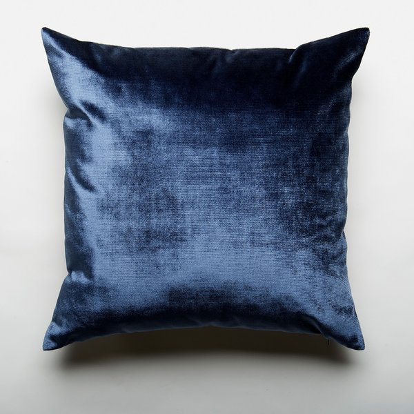 Two Tone Midnight Velvet Throw Pillow Cover