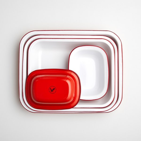 Falcon Red Enamelware Bake Set