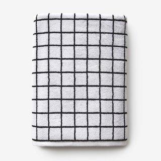 Mini Grid Black + White Bath Towel