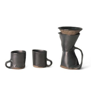 Brutal Coffeemaker & Two Mug Set