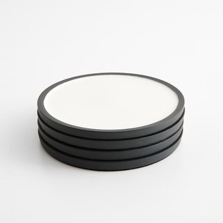 Enamel Matte Black Coaster Set of 4