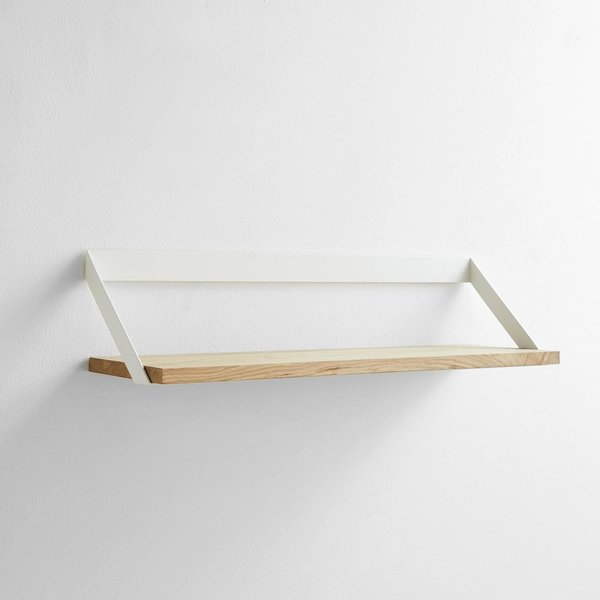 Unison Ribbon White Wall Shelf