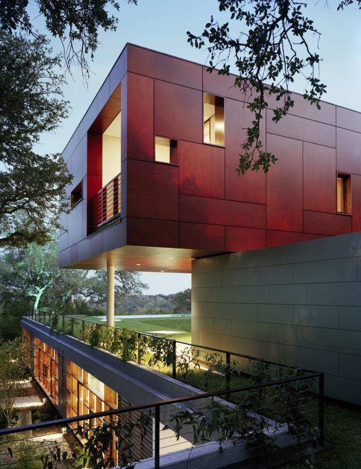 Exterior, House Building Type, Metal Roof Material, and Metal Siding Material  Floating Box House by Gluck+