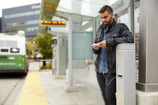 Landscape Forms and Legrand collaborated on three new outdoor charging stations called Outdoor Power.