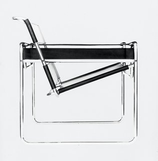 Fascinated by his bicycle, Breuer conducted early experimentations with tubular steel that resulted in the iconic Wassily chair, the first of many furnishings that he made with the material. (1925)