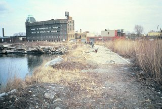 A look at the misused park site before it was transformed by artist Mark di Suvero.