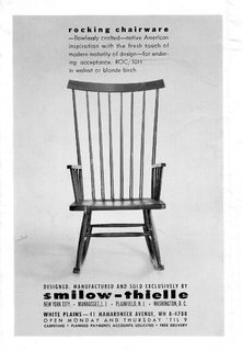 Starting in the early '60s and lasting through the '70s, Smilow-Thielle ran this surprisingly modern and graphic ad in multiple publications. This is the same rocking chair that is once again being brought to market.