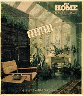 Smilow–designed furniture played an important role in American culture. Shown here is the September 1975 cover of the New York Times magazine, where the Rush Armchair took center stage.