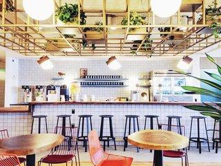 Coffee Break in a New Communal Workspace