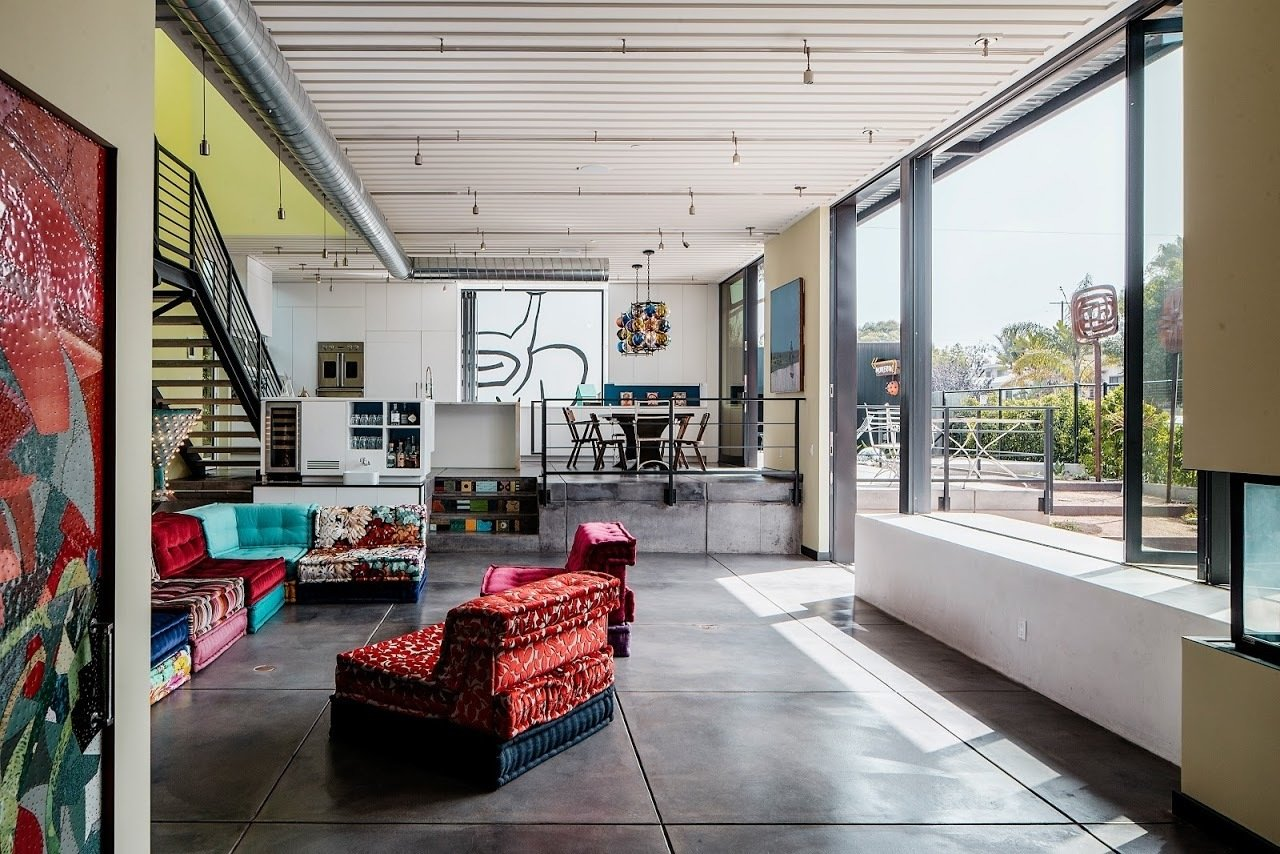 The interior makes a bold statement with the extensive use of industrial glass and exposed steel and duct work.  Photo 5 of 5 in Gear Up For Dwell on Design 2017 from Meet Us in Los Angeles for Our Biggest Home Tour Yet