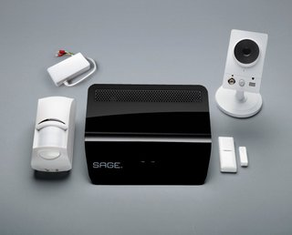 One of the first products Jordan and Laurie ordered was the 5-piece SAGE Security Kit that includes the SAGE Hub, Doorbell Sensor, Door/Window Sensor, Motion Sensor, and Indoor Camera.
