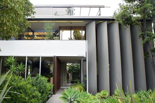 Iconic Perspectives: Richard Neutra's VDL Studio & Residences - Photo 1 of 10 - The main house of VDL II is made up of a series of modern lines and planes, which makes it one of Neutra's more eccentric designs. His use of reflective surfaces makes it feel more expansive than it actually is, and accentuates his utilization of water throughout the property.