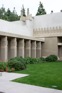 The Hollyhock House is open to the public through self-guided tours or personal docent-led tours. They also open the lawn to community events including art workshops, cultural get-togethers, and outdoor movie nights.