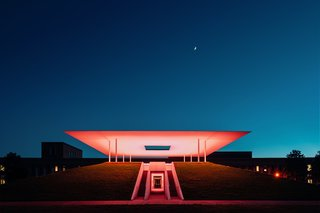 Stopping by James Turrell's Twilight Epiphany at Sunset