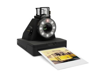 The modern version of the classic Polaroid silhouette is finished in a matte black surface with subtle yellow details. Impossible film packs are available in either colored or black and white and cost $19.99 for a pack of eight.