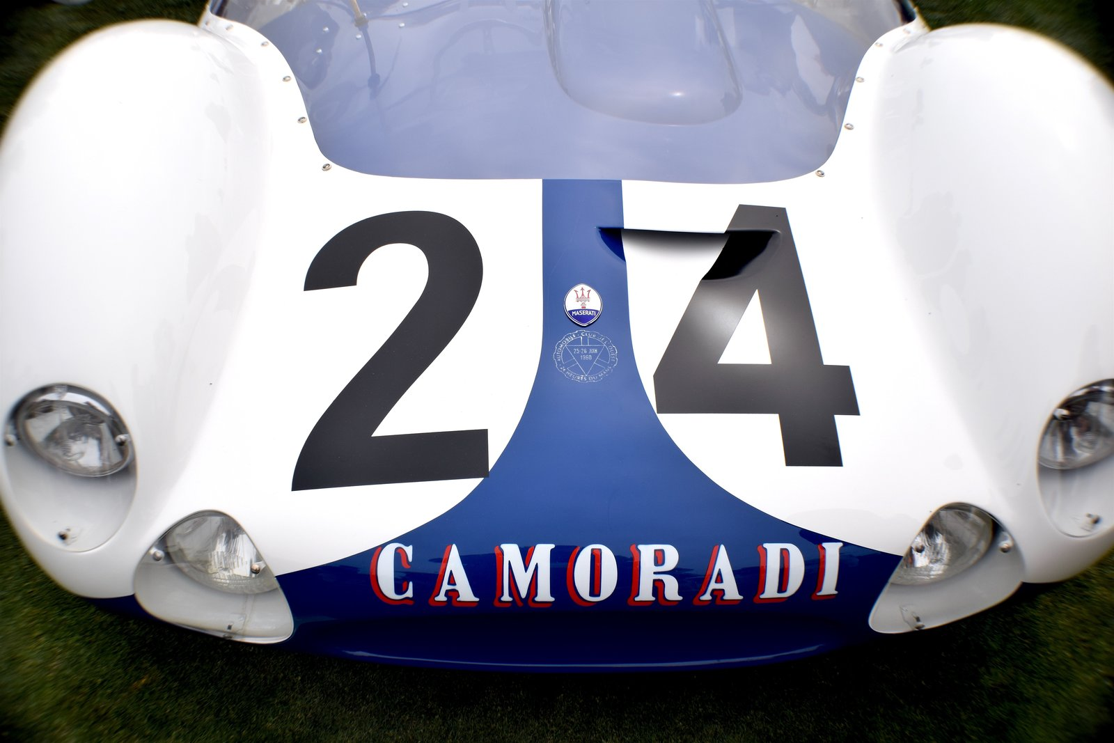 Towards the end of 1958, Maserati developed this front-engined, 2-liter prototype Tipo 60 at a time when many race car designers were starting to lean towards rear-engined designs. In 1959, it was tested for the first time on the road between Modena and Verona, and went on to partake in multiple races. It retired at the end of 1963.  Photo 5 of 10 in A Day at the Pebble Beach Concours d'Elegance Car Show