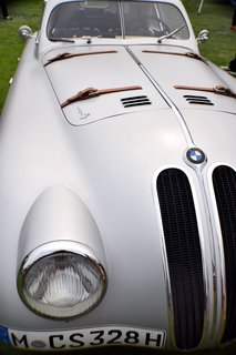 "In 1939, Carrozzeria Touring in Milan built this ""superleggera"" body on a BMW 328 chassis to be used for long-distance racing. Its lightweight and aerodynamic shape allowed it to hit a top speed of 137 and completed the 24 Hours of Le Mans race in 1939."