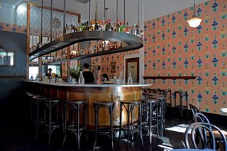 At Angel Face, the floral walls are hand-painted by artist Michael Paulus and the cocktails are crafted with a careful attention to detail.