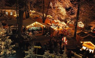Dinkelsbühl's Christmas market during the holidays
