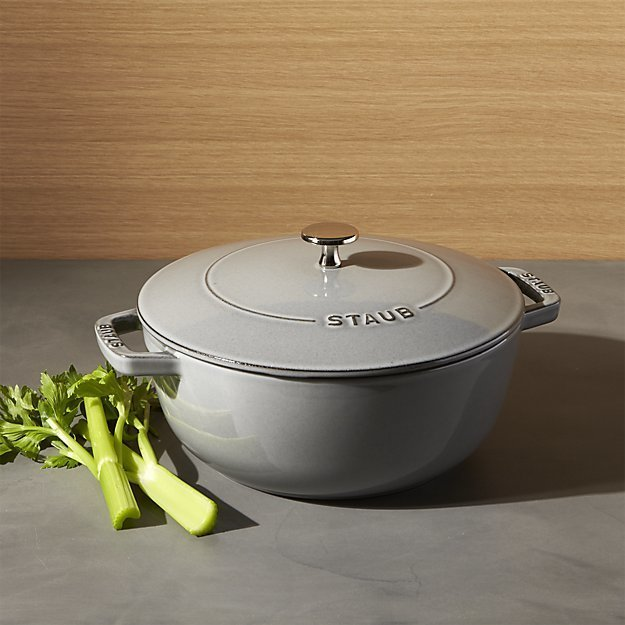 Staub 3.75-Qt. Essential French Oven in Graphite Gray, $149.99  Photo 4 of 18 in 16 Modern Entertaining Tools to Use and Give This Holiday Season