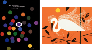 "When working with their artists, they turn to icons who were known for illustrating the natural world in their own special ways. Two such examples are Paul Rand (whose work for IBM is shown on the left) and Charley Harper (whose ""Ford Times"" Vintage Silkscreen piece is shown on the right)."
